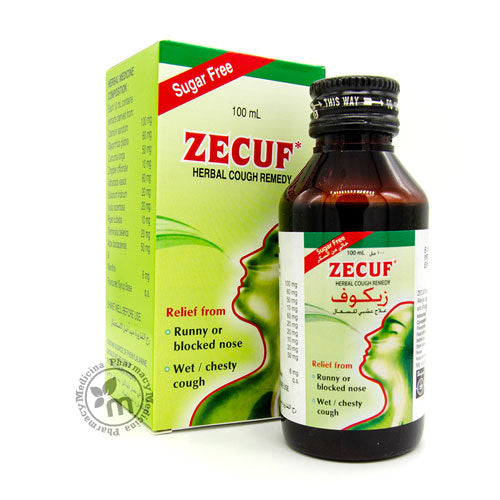Zecuf Herbal Cough Sugar Free Dry - Wet Cough Treatment