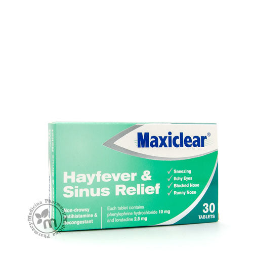 Maxiclear For Hayfever Sinus Flu Symptoms Relief