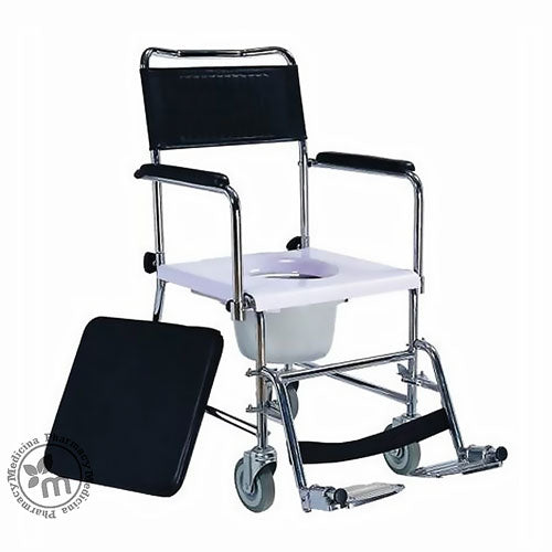 Media6 Wheelchair Drop Arm Commode 6532