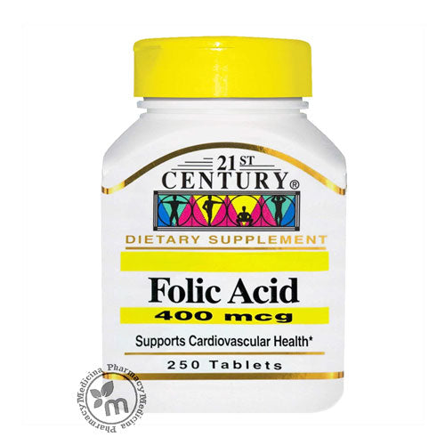 Buy 21st Century Folic Acid 250s For Women Health in Dubai UAE