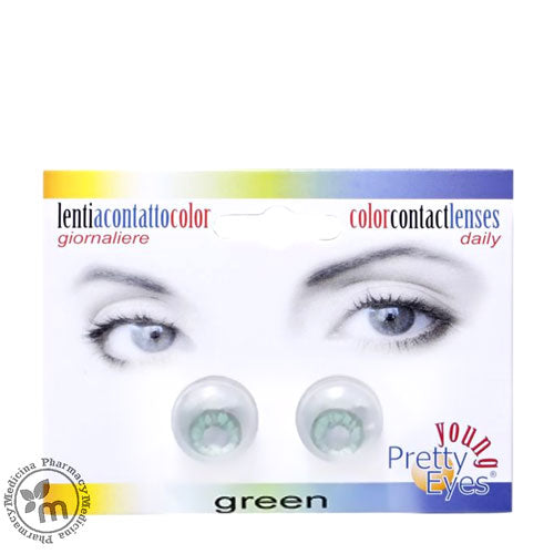 Young Pretty Eyes Daily Contact Lenses Green 2s