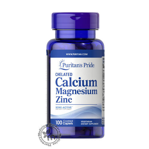 Shop Puritans Pride Calcium - Magnesium - Zinc in Dubai UAE