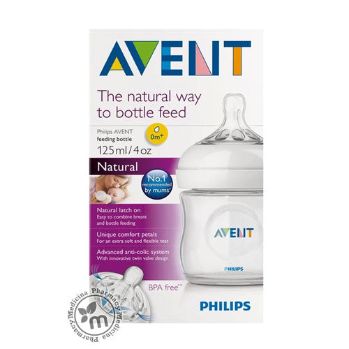 Avent Natural Feed Bottle 125 ml PA400