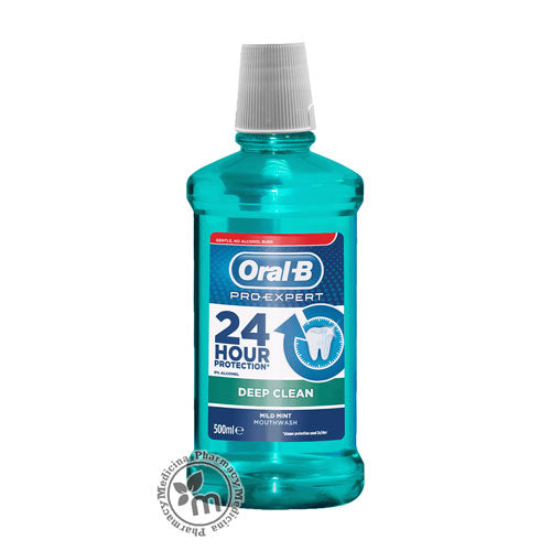 Oral B Pro Expert Mouthwash Deep Clean 500ml - Medicina Online Pharmacy | UAE