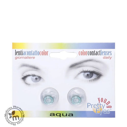 Young Pretty Eyes Daily Contact Lenses Aqua 2s