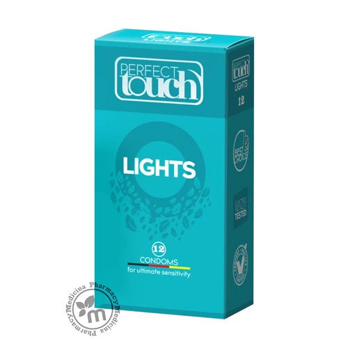 Perfect Touch Condoms Lights 12 Pcs