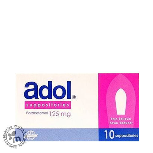 Adol Suppositories 125 mg - Medicina Online Pharmacy | UAE