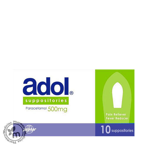Adol 500 mg Suppositories 10s