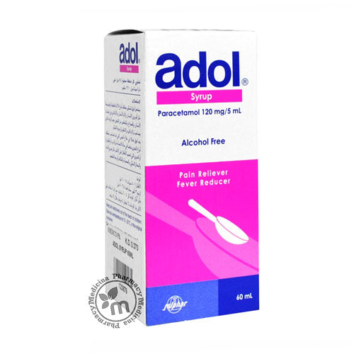 Adol 120 mg Syrup Antipyretic and pain killer for Babies