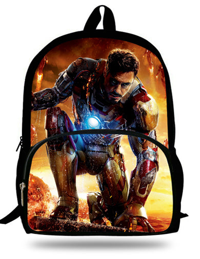 ef3d133e5b ... 16-inch Kids School Backpack Iron man For Child Age 7-13 Children School  ...