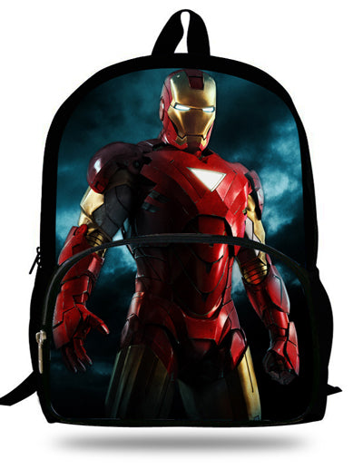 36c677a4adc4 ... 16-inch Kids School Backpack Iron man For Child Age 7-13 Children School  ...