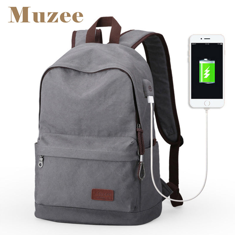 3400a85db4 2017 Men Male Canvas Backpack College Student School Backpack ...