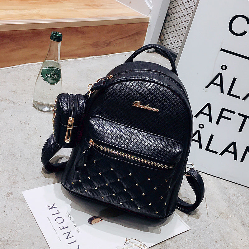 47faaf7c2ade ... 2017 Summer New Vintage Retro Lady PU Leather Bag Small Women Mini  Backpack ...