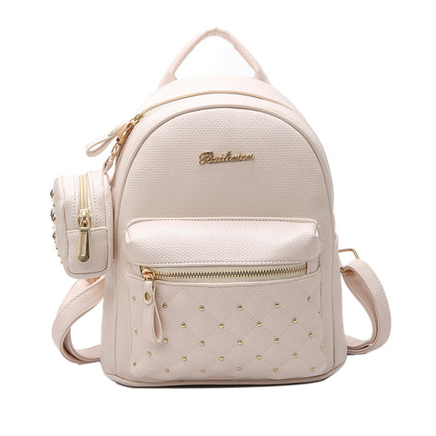 2017 Summer New Vintage Retro Lady PU Leather Bag Small Women Mini Backpack