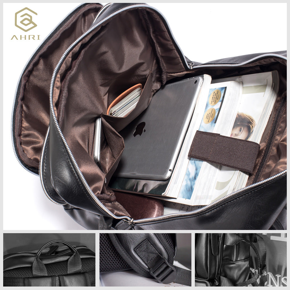 88a770f403a9 ... AHRI NEW 2017 Backpacks for men Bags PU Leather Men s Shoulder Bags ...