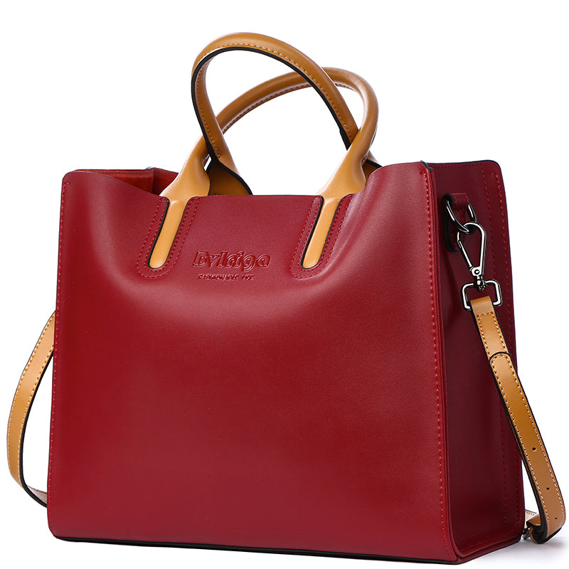 180aea297031 ... BVLRIGA Genuine leather bag famous brands women messenger bags ...