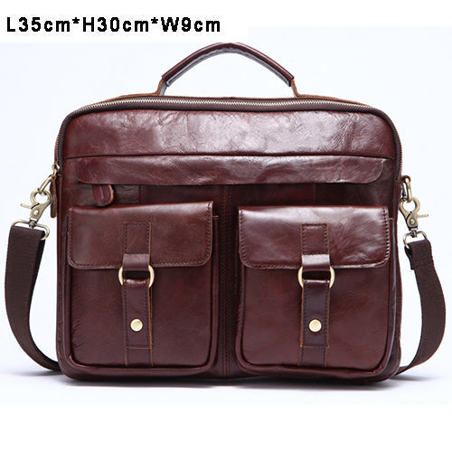 MVA Genuine Leather Men Bag Business Briefcase Messenger Handbags Men