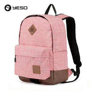 School Bags For Teenagers 2017 Fashion Casual Gray Pink Backpack