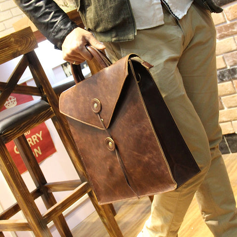 New Design Fashion Crazy horse PU Leather Bag