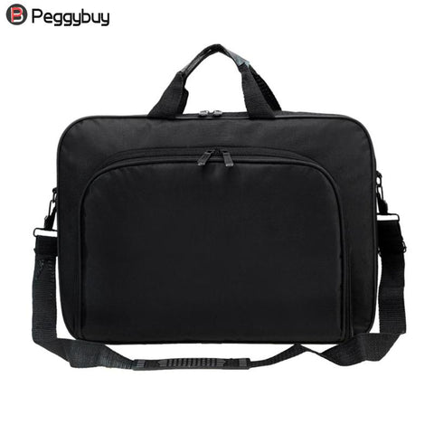 Business Portable Unisex Nylon Computer Handbags Zipper Shoulder