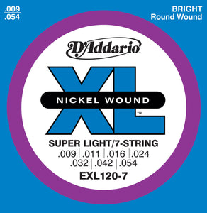 D'addario EXL120-7 Super Light/7 String Set 9-54