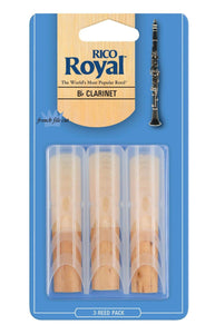 Rico Royal Clarinet Reed 3 Pack