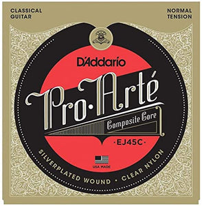 D'addario Pro Arte Composite Nylon Classical Guitar Strings Normal Tension