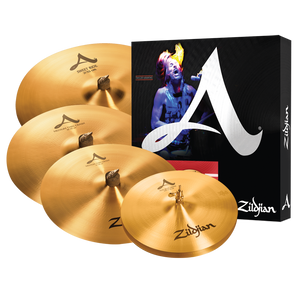"ZILDJIAN 'A' CYMBAL SET - 14,16,20 + Free 18"" Crash"