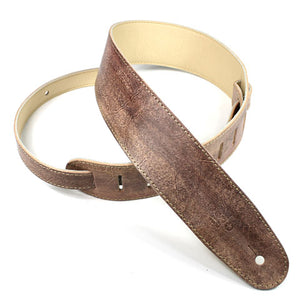 "DSL 2.5"" Hand Dyed Brown Leather Strap"