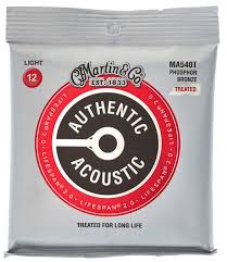 Martin MA540T Treated Phosphor Bronze Light Gauge Acoustic Guitar Strings 12-53