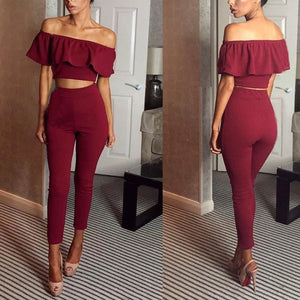 crop top & pants set