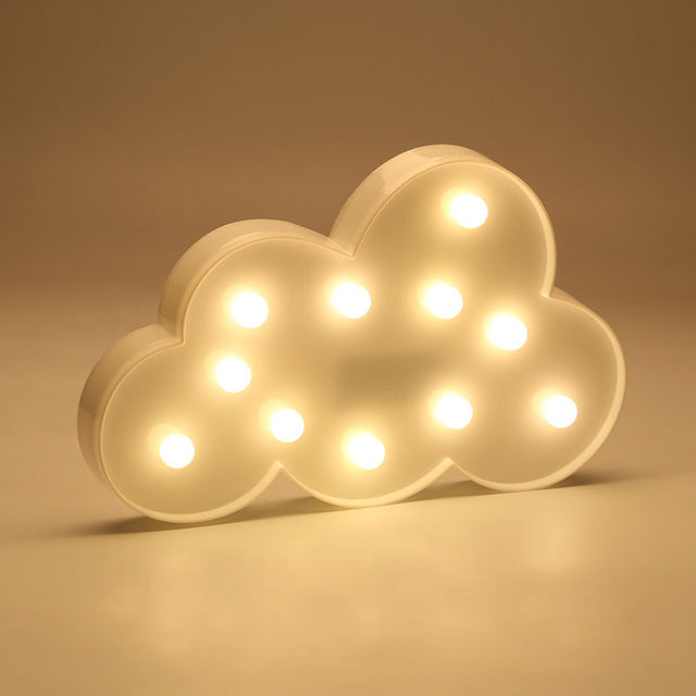 Moon Cactus Cloud Night Light