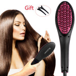 Babe's Hair Straightener Brush with 3D Mch Tourmaline Technology