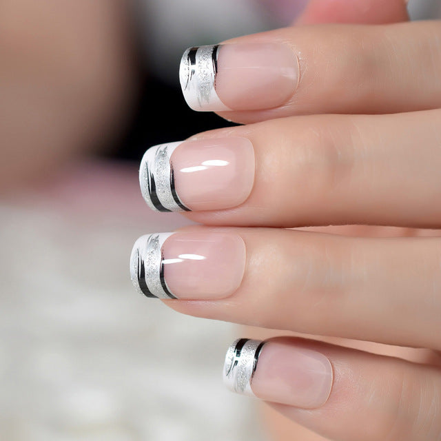 Ombre French Ballerina Fake Nail