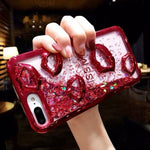 """Floating Apps & Glitter"" iPhone Case"