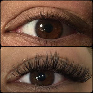 Eyelash Extensions Before and After