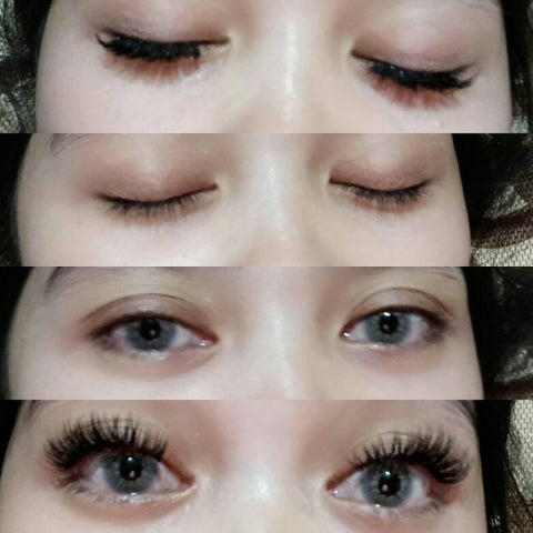before after from buzz lashes