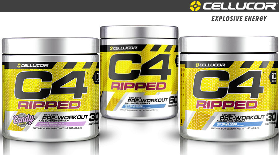 Cellucor C4 Ripped 30 Servings weight loss exercise pre workout gym fitness sport health
