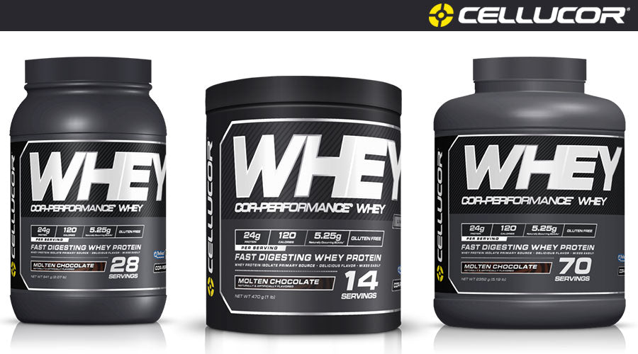 Cellucor COR Performance Whey protein powder gym fitness workout abs