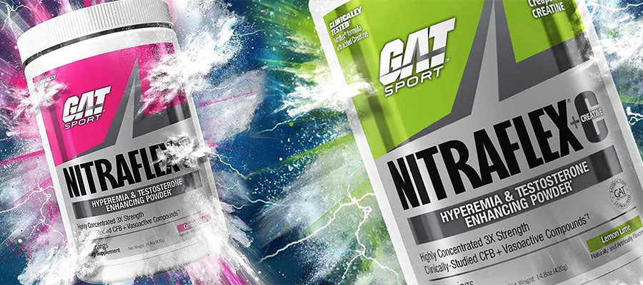GAT Nitraflex creatine energy pre workout gym abs cardio