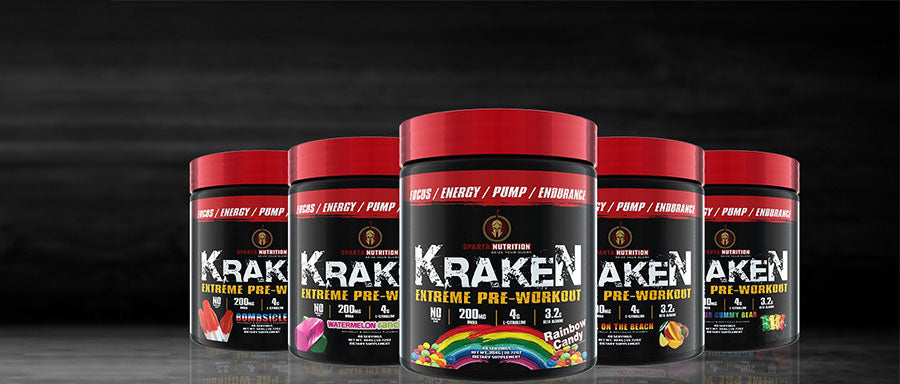 Sparta Nutrition Kraken Extreme Pre Workout abs cardio gym fitness best