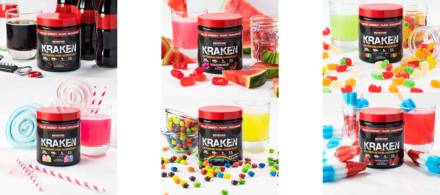 Sparta Nutrition Kraken Extreme Pre Workout abs cardio gym fitness