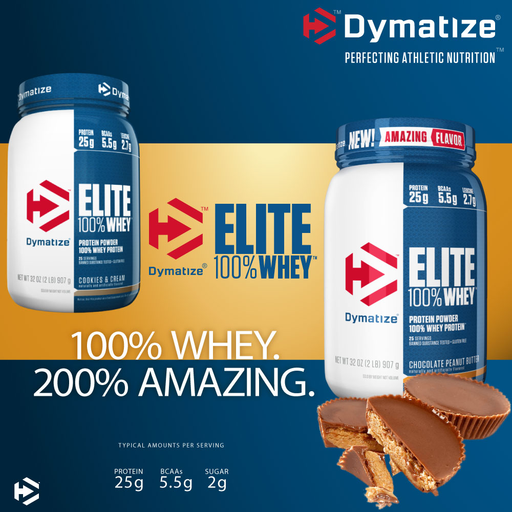 dymatize elite 100% whey protein powder