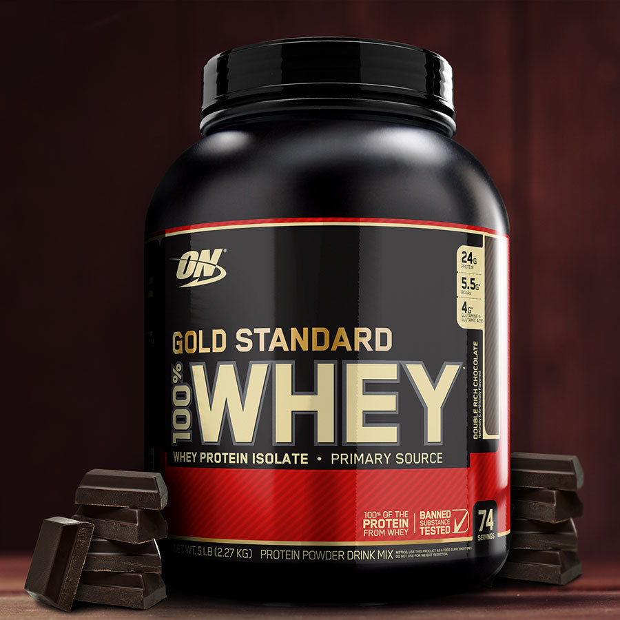 optimum nutrition gold standard 100% whey protein powder 5lb
