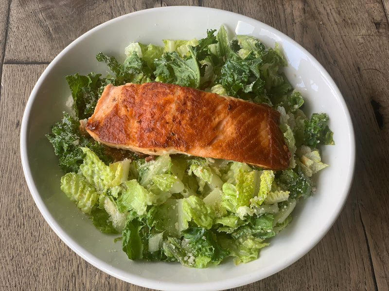 Salmon With Green  Salad