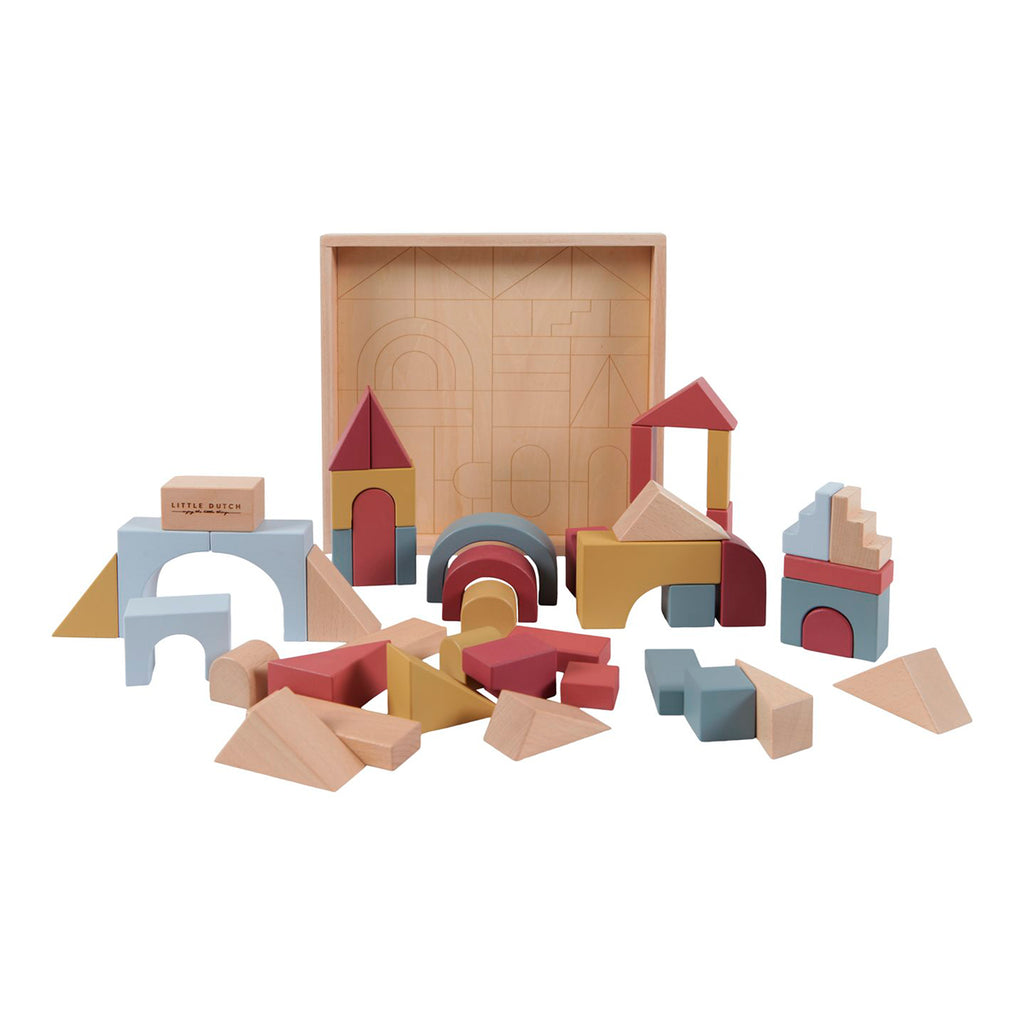 Little Dutch Wooden building blocks Pure & Nature