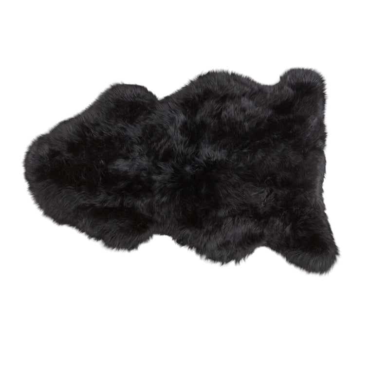 Linn - longhaired Sheepskin 100*60cm / black