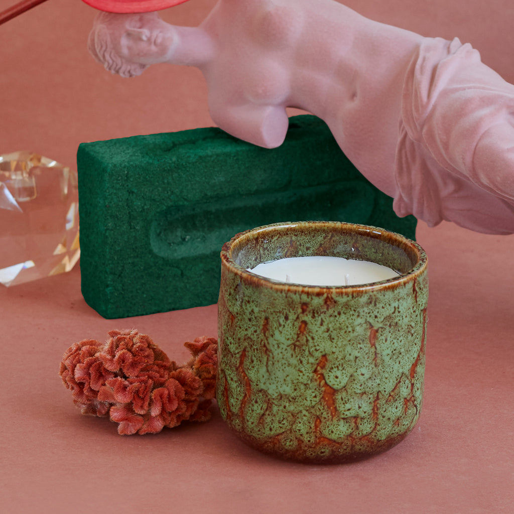 HK Living ceramic scented candle: floral boudoir