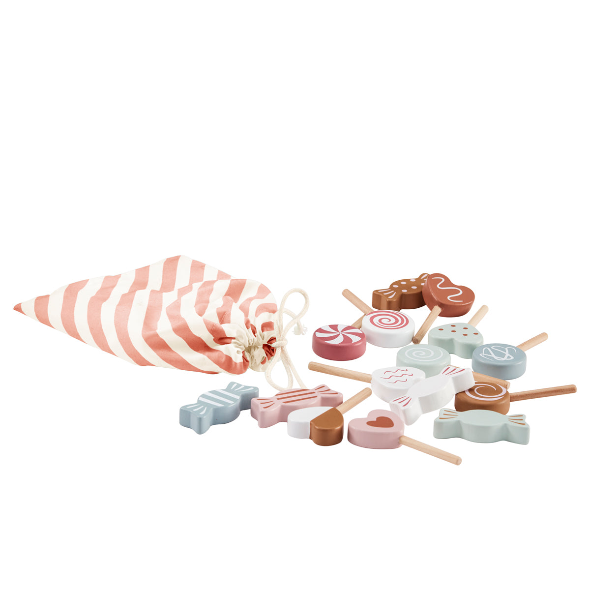 wooden candy sweets set by kids concept