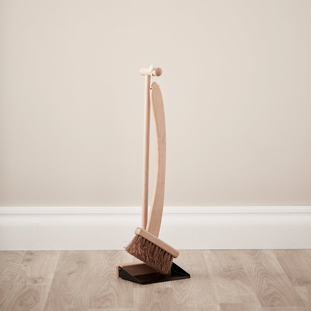 wooden brush and dustpan from Kids concept
